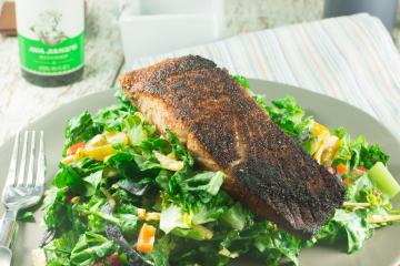 Blackened Salmon with Avocado Oil