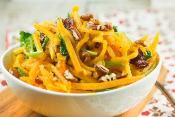 Cranberry Pecan Butternut Squash Noodles