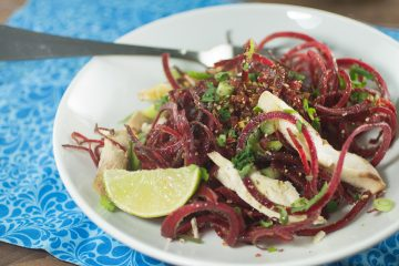 Beet Noodle Salad with Ginger Lime Dressing