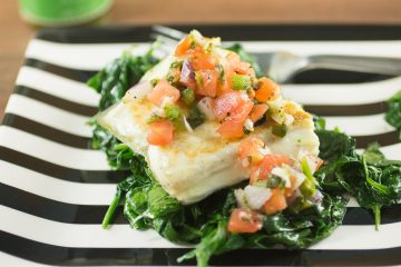 Perfectly Seared Fish with Easy Pico de Gallo