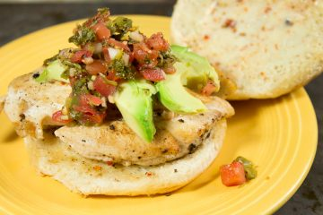 Chicken and Avocado Sandwich with Green Chili Salsa