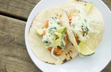 Buffalo Salmon Tacos