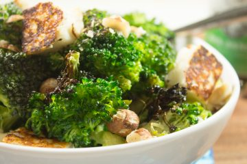 Broccoli with Halloumi and Hazelnuts