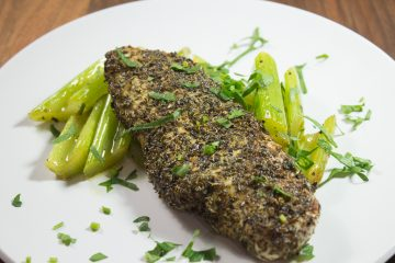 Herb Crusted Chicken with Braised Celery