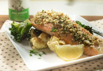 Lemon Almond Salmon Filets