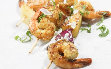 Curried Tropical Shrimp Skewers