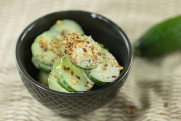 Creamy Hot Roasted Garlic Cucumbers