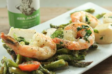 Hearts of Palm Asparagus with Shrimp