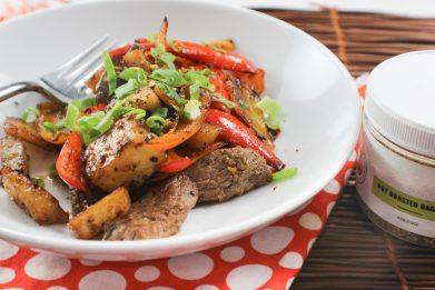 Pineapple Steak and Pepper Skillet