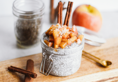 Salted Caramel Apple Chia Pudding