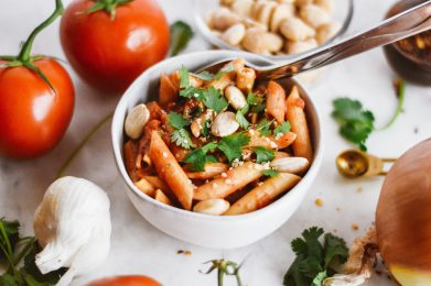 Spicy Tomato Chickpea Pasta