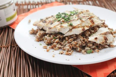 Winter Grilled Chicken and Lemon Farro