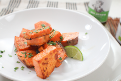 Pumpkin Lime Roasted Sweet Potatoes