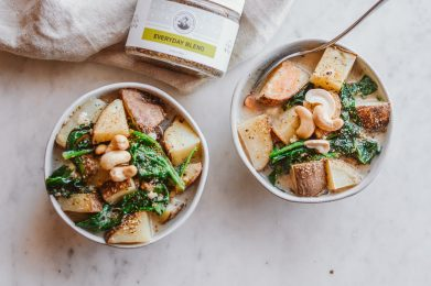Herbed Potato and Spinach Soup