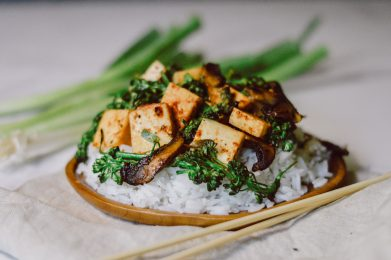 Honey-Ginger Tofu Vegan Stir Fry