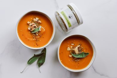 Roasted Pumpkin + Sage Soup