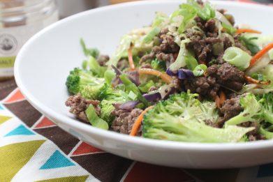 Ground Beef Veggie Bowl