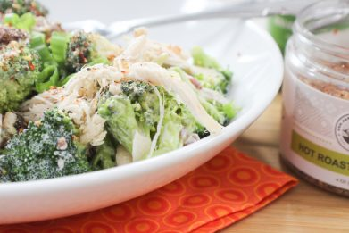Chicken and Broccoli Salad with Creamy Avocado Oil Vinaigrette