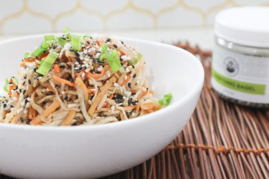 Cold Noodle Salad with Ginger Lime Dressing