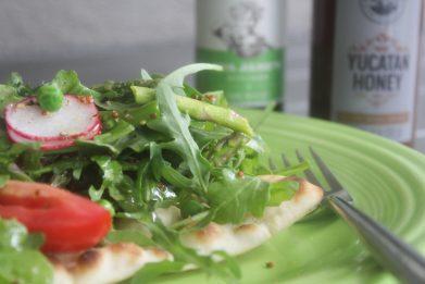 Flatbread Salad with Honey Lemon Vinaigrette