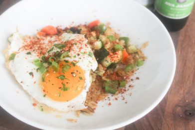 Vegetable Fried Rice and Eggs